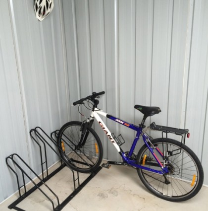 Bicycle racks and storage to keep your gear dry