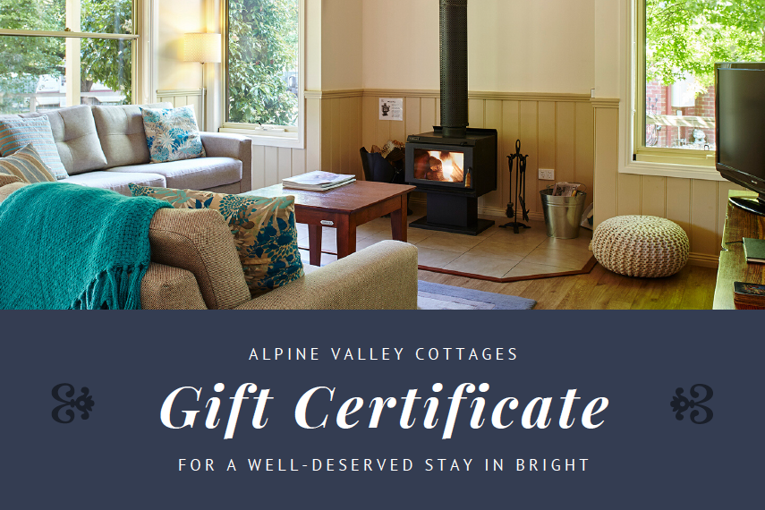 Gift Vouchers for Alpine Valley Cottages